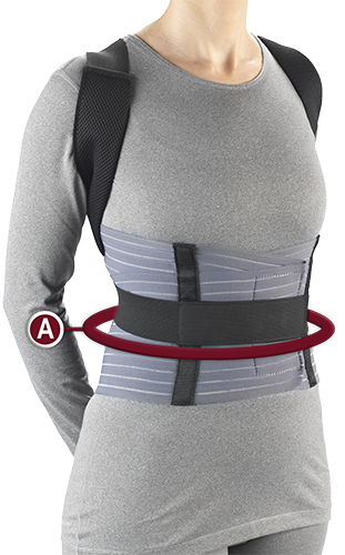 TECH-EZ POSTURE BRACE Measurement Location