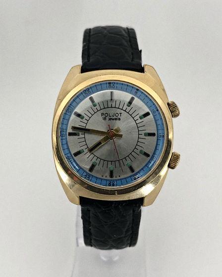 Часы Полет (будильник) - СССР, позолоченные, механические