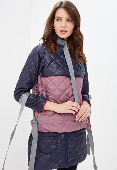 Стильная курточка стеганая синяя