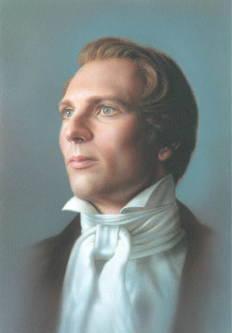 Painted portrait of Joseph Smith.
