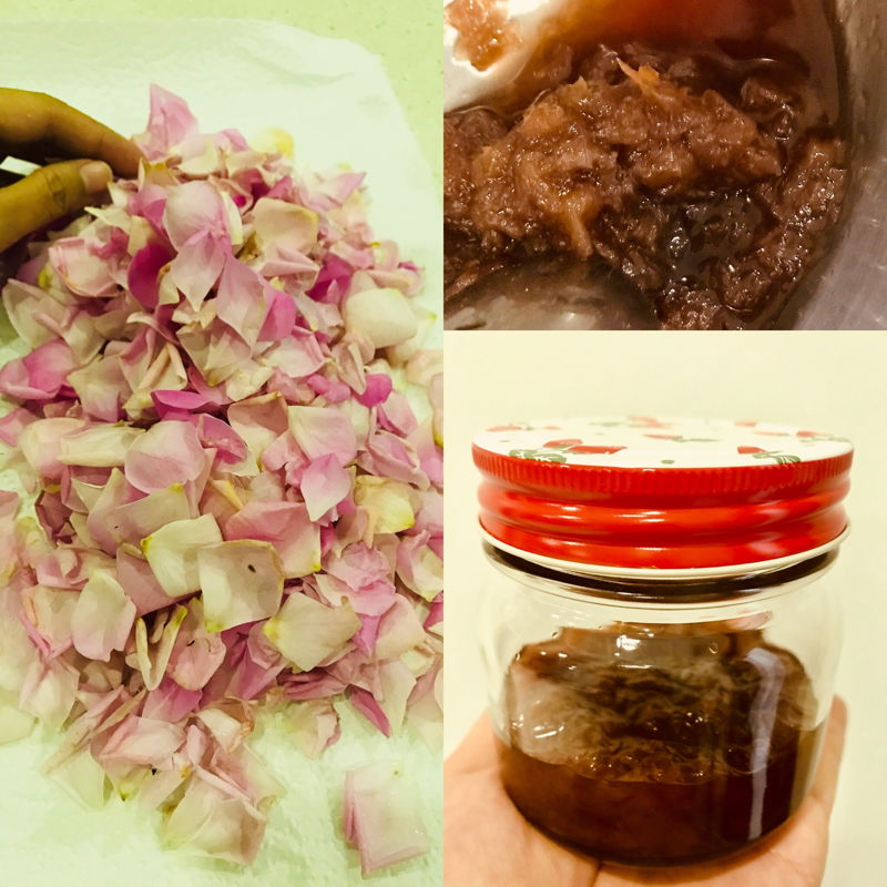 Rose jam making process