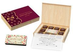 Wedding Return Gift Ideas - 12 Chocolate Box With Printed Bar - (10 Boxes)