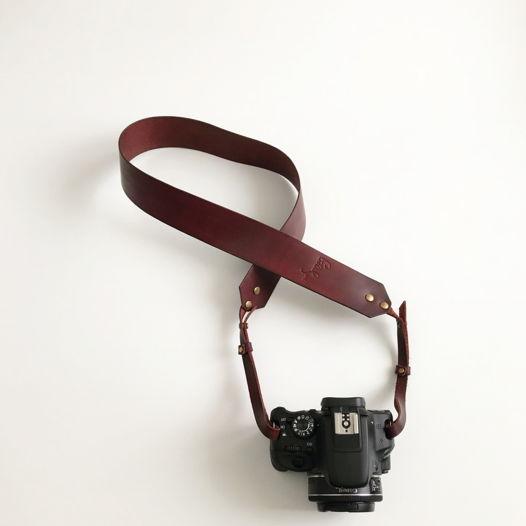Кожаный ремень для фотоаппарата