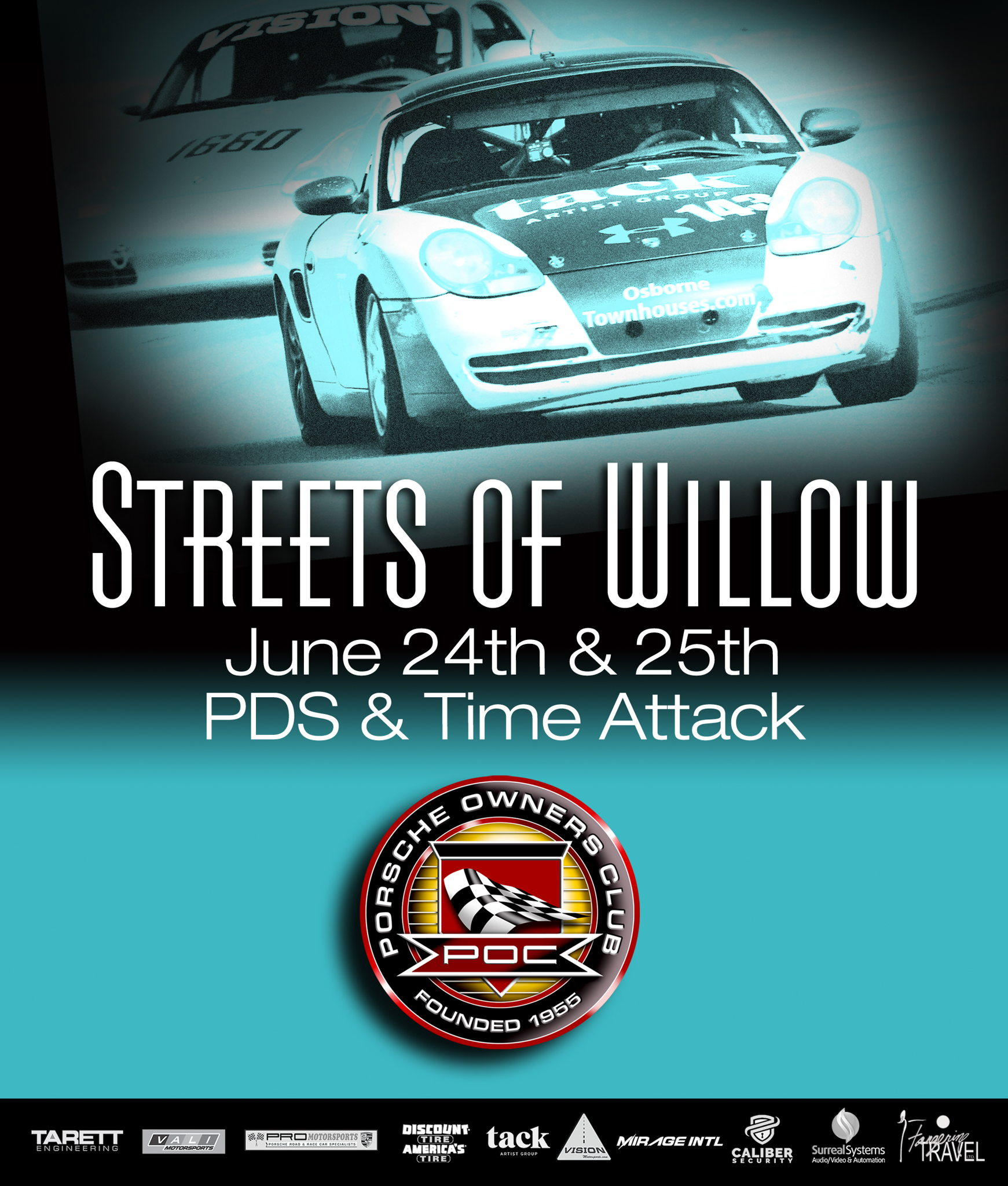 Porsche Owners Club Streets of Willow June 24 25 info on Jun 24
