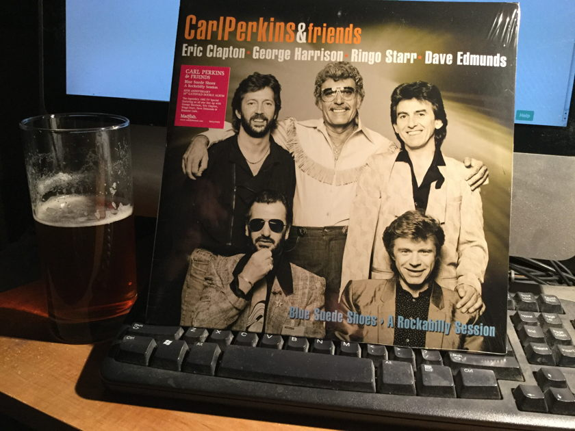 CARL PERKINS AND FRIENDS - BLUE SUEDE SHOES - AROCKABILLY SESSION  Sealed. Mad fish records. 2 10 inch records