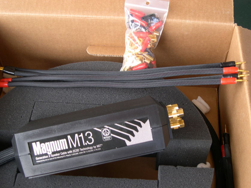 MIT Magnum M1.3 BiWire. Rare 12 ft pair Demo in 10/10 condition.  PRICE REDUCED! LIFETIME WRNTY