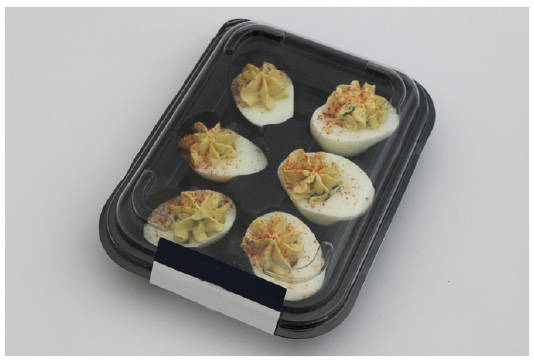 deviled egg packaging prior to makeover to plant based food packaging, canada