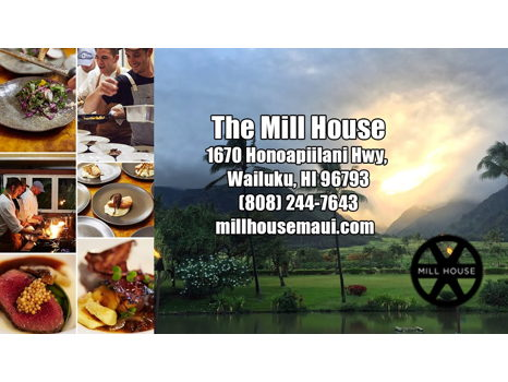 The Mill House, Maui $100 gift certificate