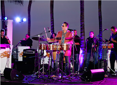 Tito Puente Jr. and his band brought the Cuban beat.