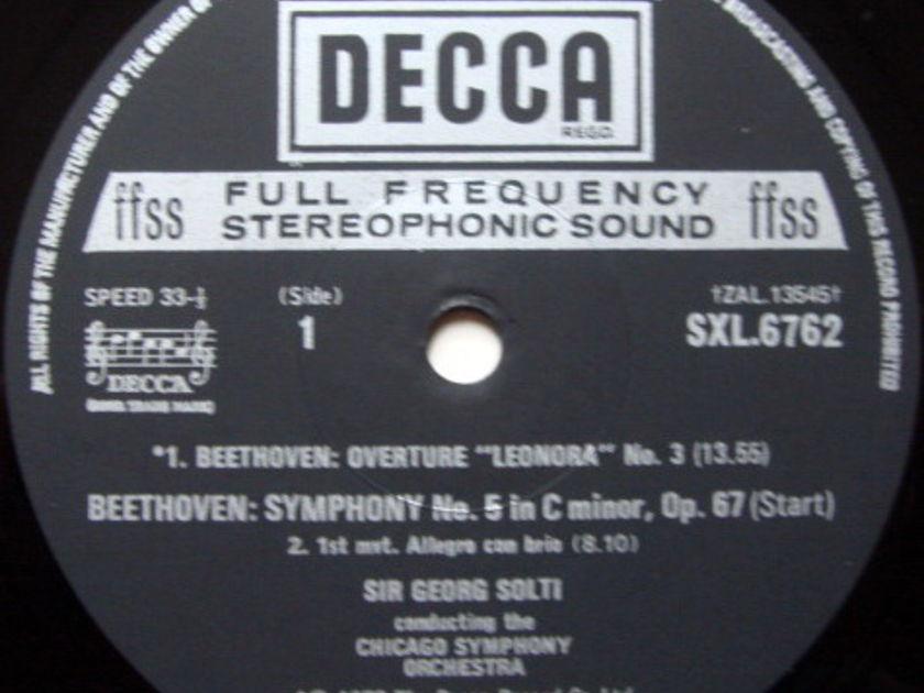 DECCA SXL-NB-ED4 / SOLTI, - Beethoven Symphony No.5, NM!