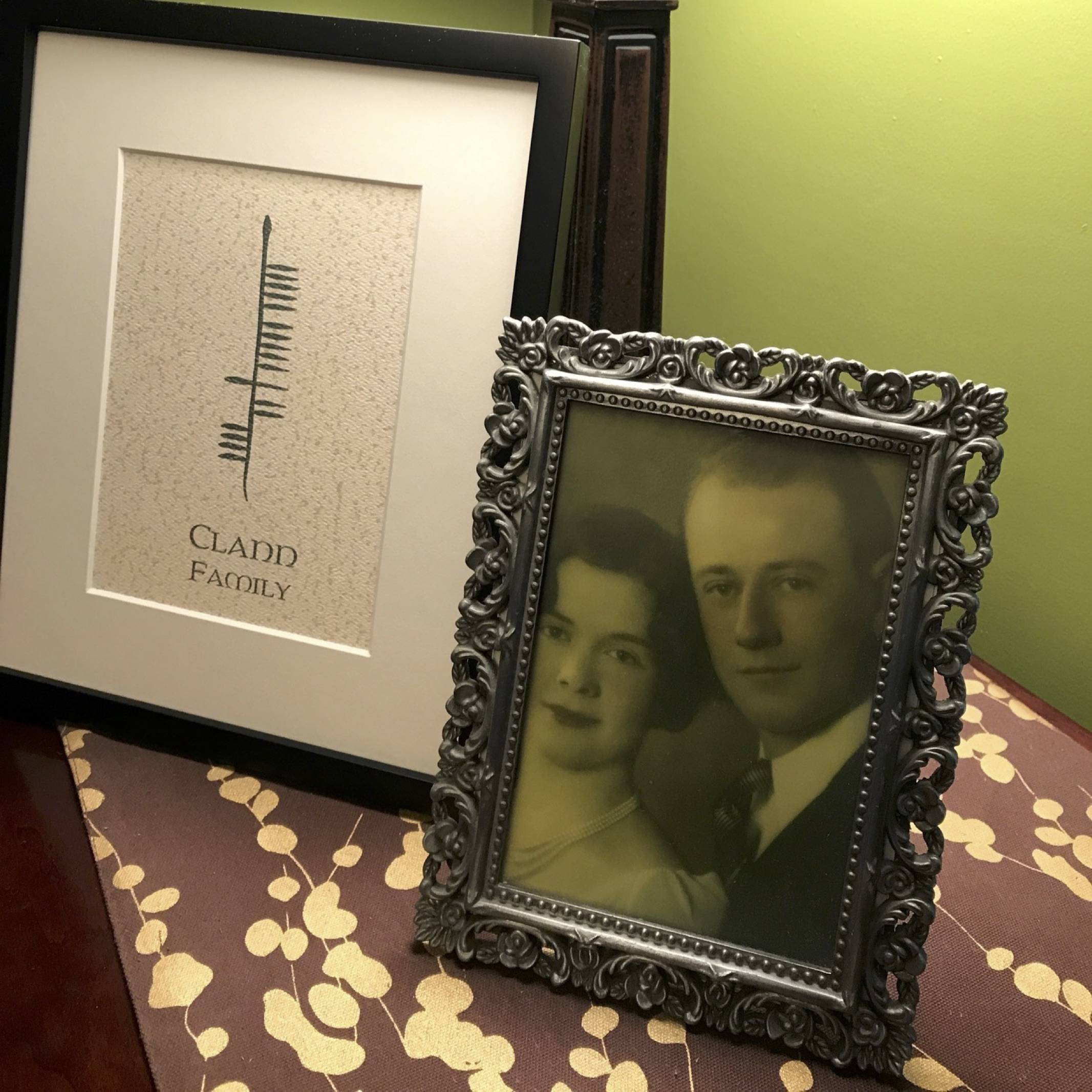 Ogham Art Family Clann Print Celtic Festival Online