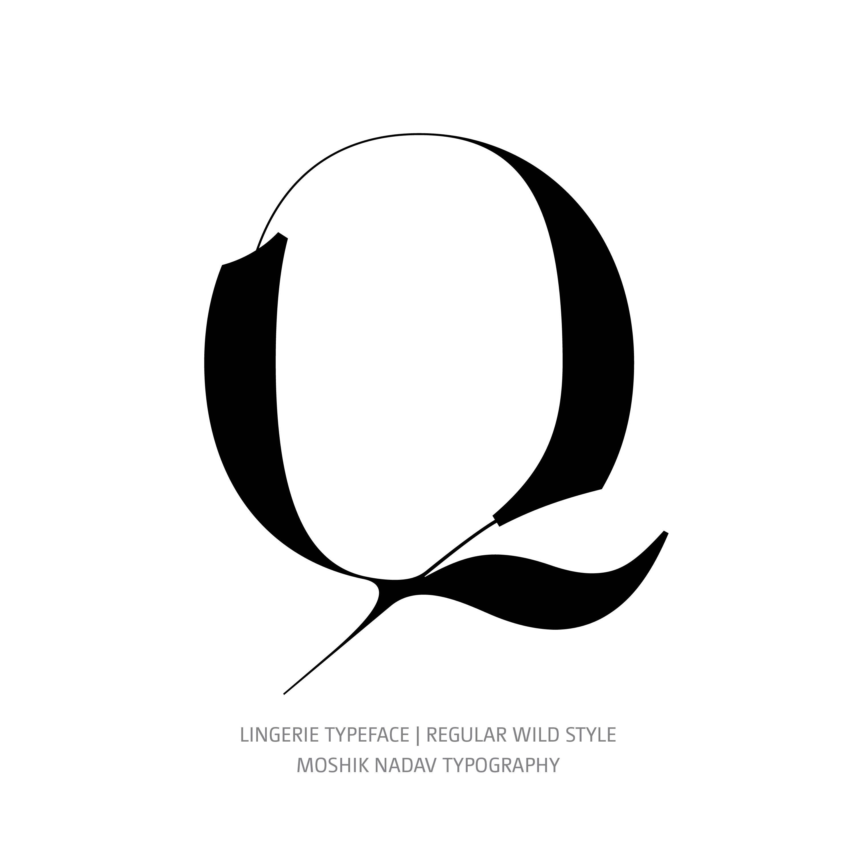 Lingerie Typeface Regular Wild Q