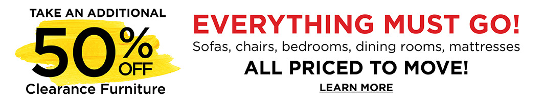 Additional 50% off Clearance Furniture