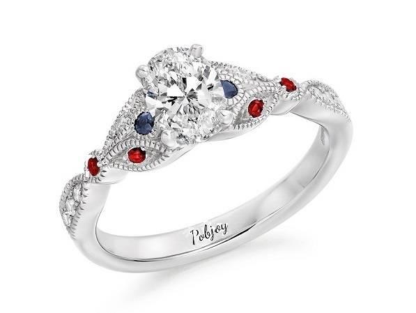 Bespoke diamond and gemstone ring from Poibjoy Diamonds