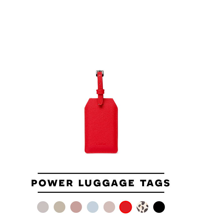 Power Luggage Tag - Red