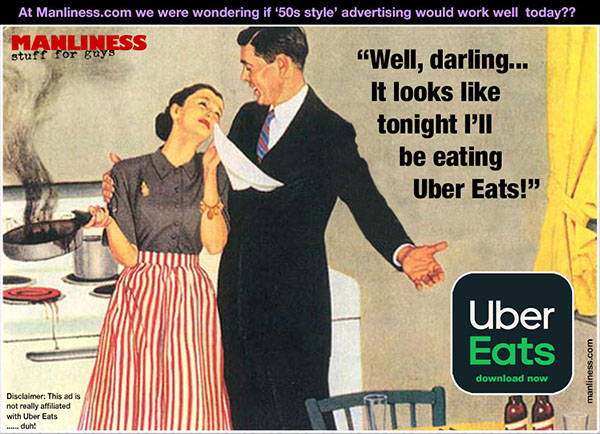 Would '1950s style' advertising work today? Uber Eats