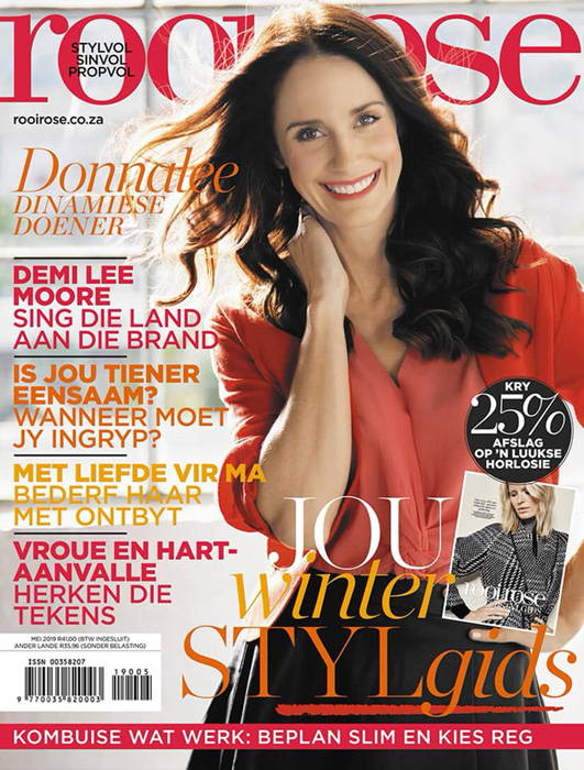 Donnalee Rooi Rose Tydskrif Magazine Mei 2019
