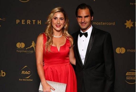Roger Federer at the New Year's Eve Gala in Perth