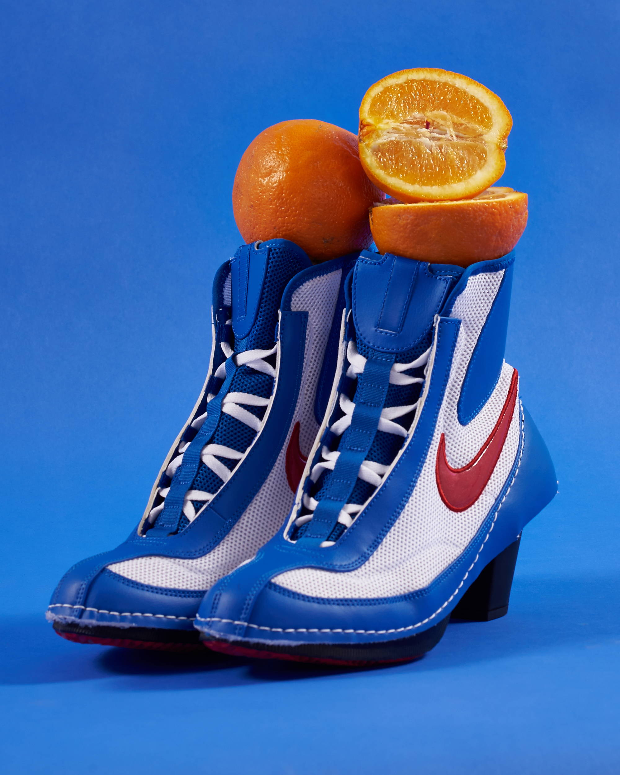 Comme des Garcons x Nike Machomai boxing boot blue collaboration - Hlorenzo