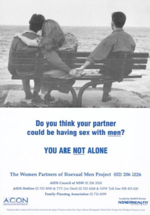 Women partners of bisexual men poster