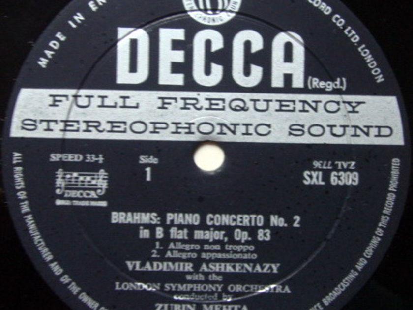 DECCA SXL-WB-ED2 / ASHKENAZY-MEHTA, - Brahms Piano Concerto No.2, NM!