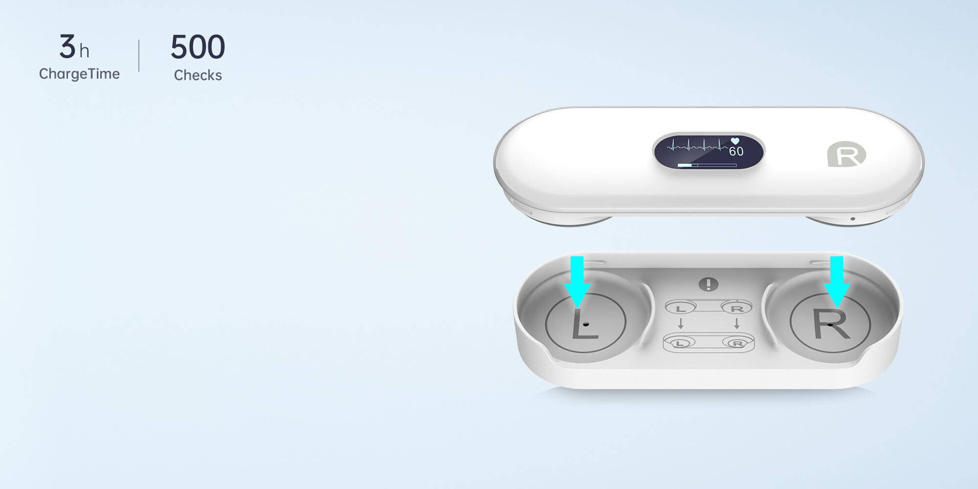 magnetic charging dock, built-in rechargeable battery