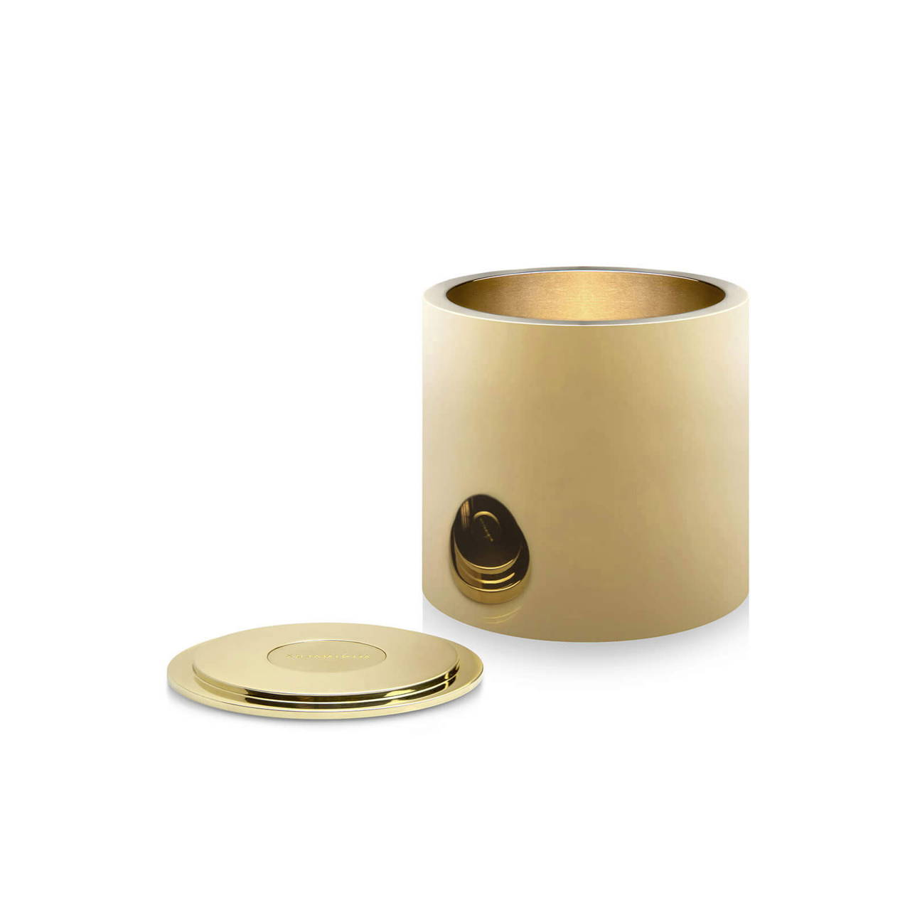 Polished Brass Pot 60 with Lid off