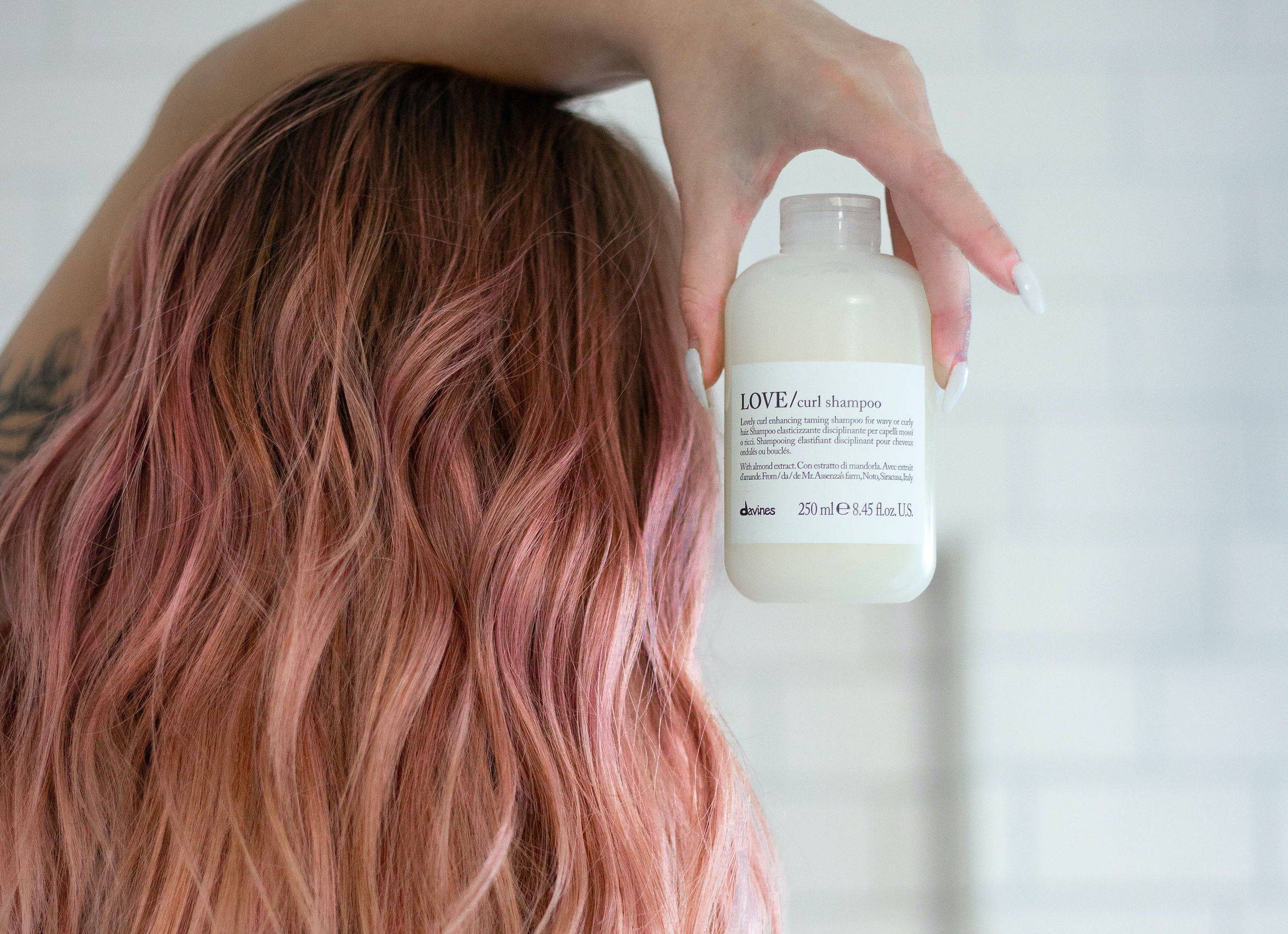Bubblegum pink hair Davines