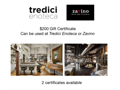 $200 Gift card to Tredici or Zavino (A)