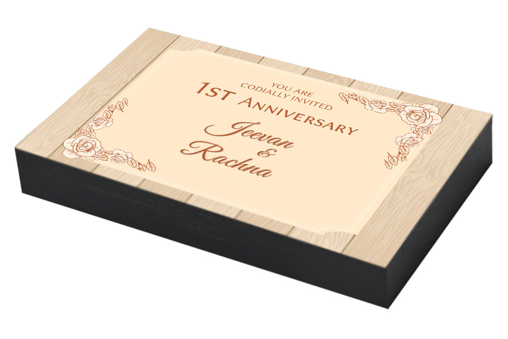 Vintage Invitation for 1st Anniversary