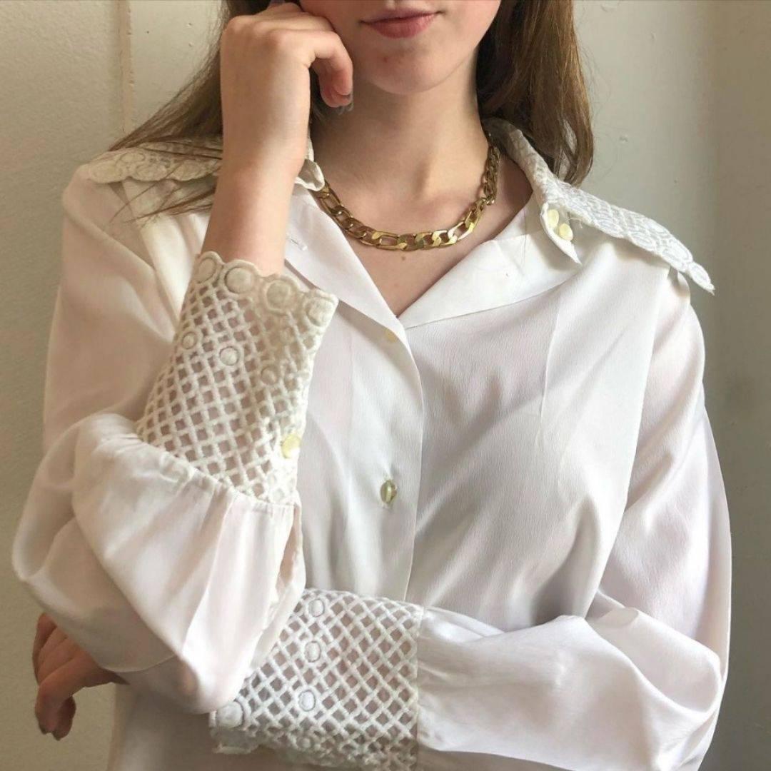 @cc_found vintage white blouse