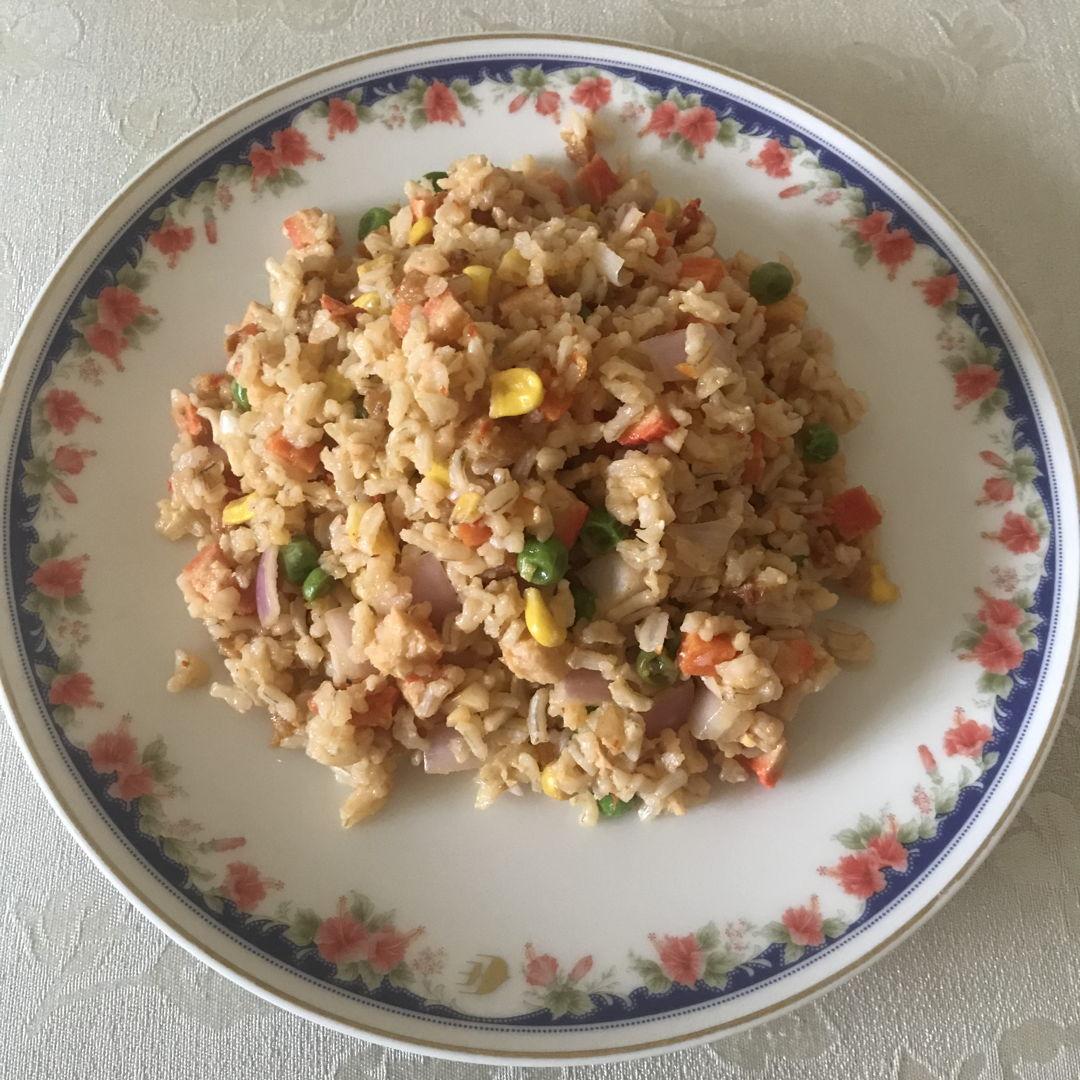 Shrimp Sambal fried rice for lunch 😁👍🏻