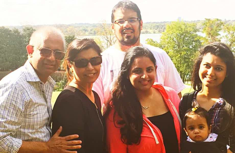 Franchise Owner of Primrose School Arshia Nizam with her family