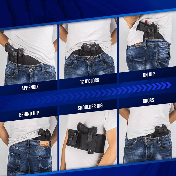 How to wear belly holster, comfortable wear belly band holsters