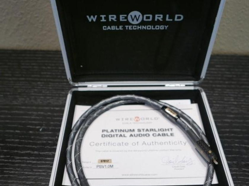Wireworld Platinum Starlight Coaxial RCA 1m Excellent