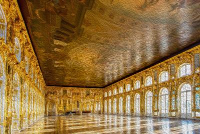 Пушкин — Екатерининский парк, дворец и Янтарная комната.