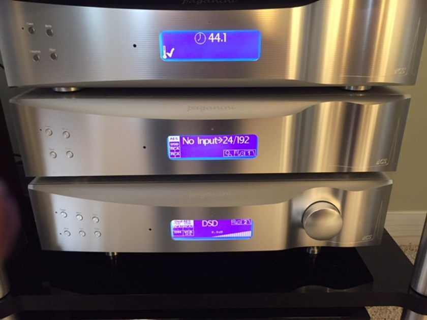 DCS Paganini DAC, Clock Plus, UpSampler & Nevo Q50 Remote