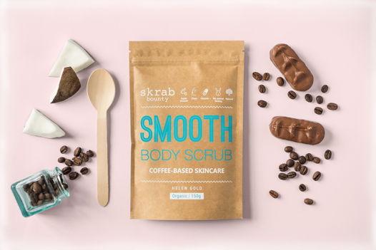 Сухой кофейный скраб SMOOTH  с добавлением масел и витаминов.