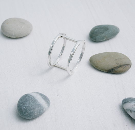 Кольцо двойное «Геометрия»