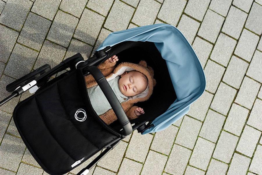 Kinderwagen mit maximalem Wannenmaß