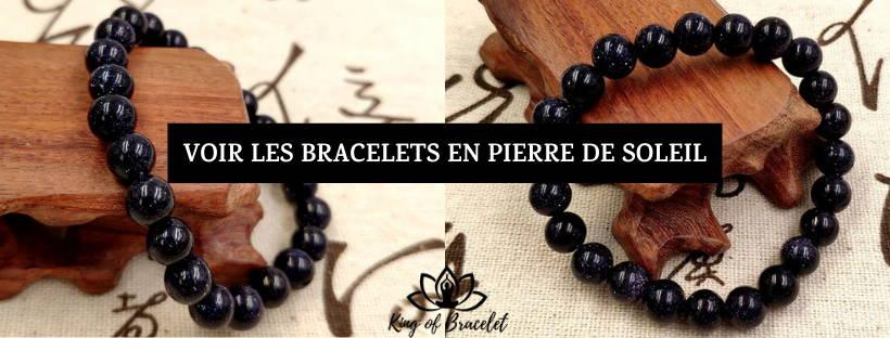 Bracelet en Pierre de Soleil Bleue - King of Bracelet