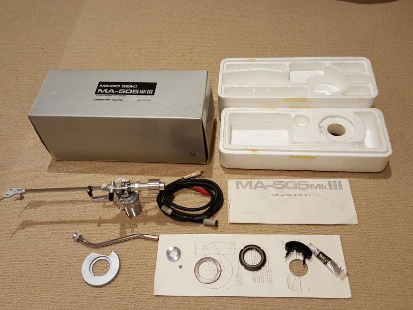 Micro Seiki  MA-505 mkIII Dynamic balance  tonearm