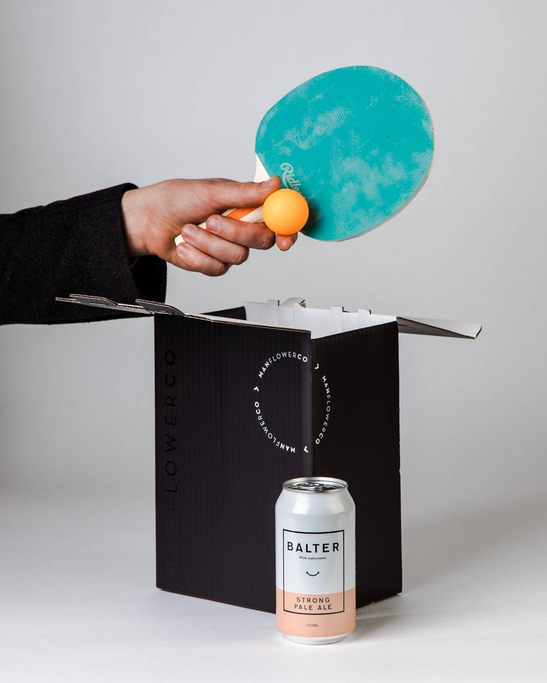 Table Tennis Set + Beer, part of Manflower Co's range of Father's Day Gifts.
