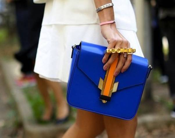 sac à main femme cuir bleu