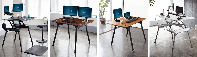 height adjustable full height standing desk