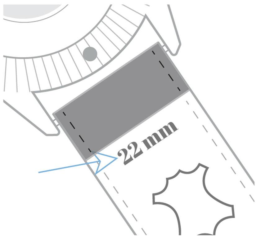 lug width underside watch band
