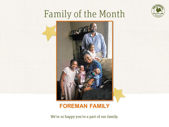 Foreman Family of the Month
