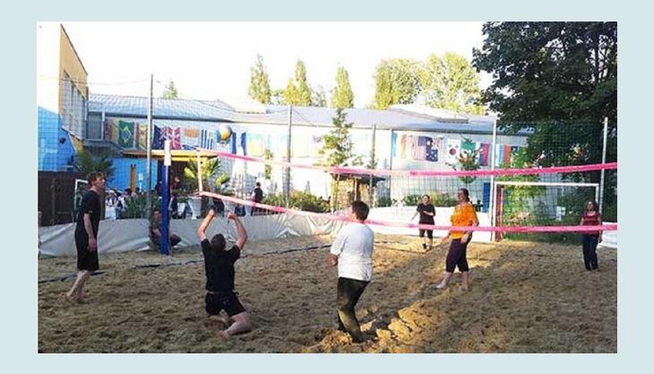 kickerworld berlin kinder beim volleyball