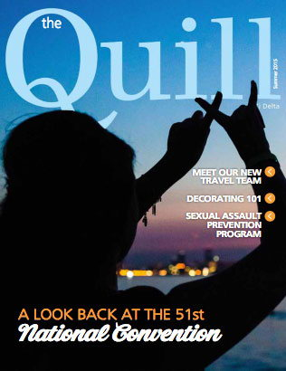 Cover of The Quill of Alpha Xi Delta Summer 2015