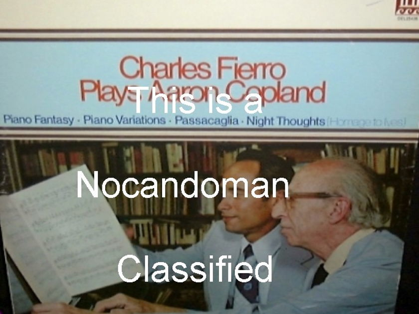 CHARLES FIERRO PLAYS AARON COPLAND - AUDIOPHILE SEALED DELOS LP FREE SHIPPING IN U.S.
